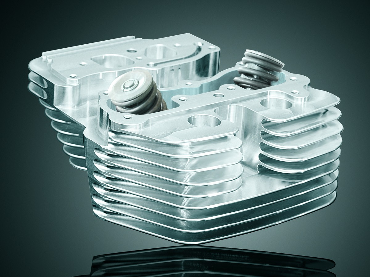 Wild Things Billet Street Heads, Polished - For Wild Things Domed or Dish Dome Pistons