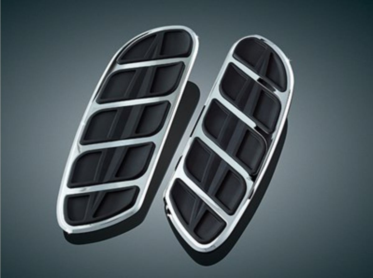 Chrome Kinetic Swept Wing Floorboard Inserts (pr)