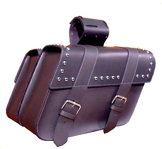 SB130S Large Slant Saddlebags with studs and ABS plastic backing