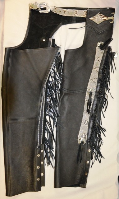 Chaps Python Skin Brown with Conchos
