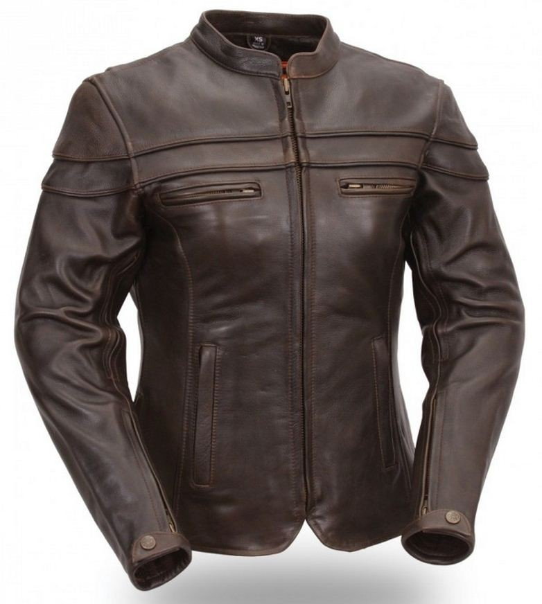 Ladies Brown Sporty Scooter Jacket