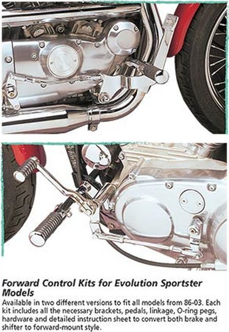 Custom Chrome - Chrome Forward Control Kit for Evolution Sportster Models