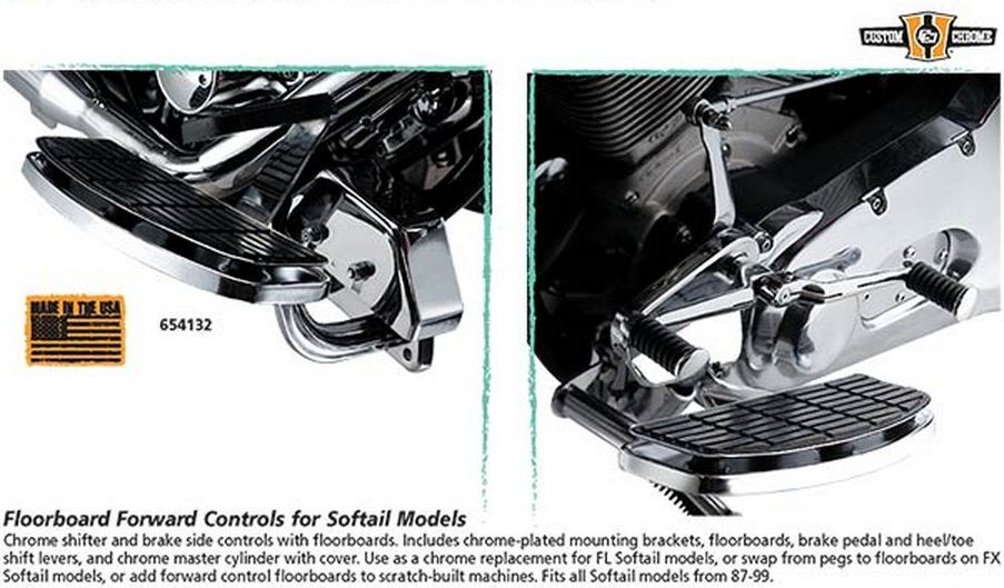 Floorboard Forward Controls for Softail Models