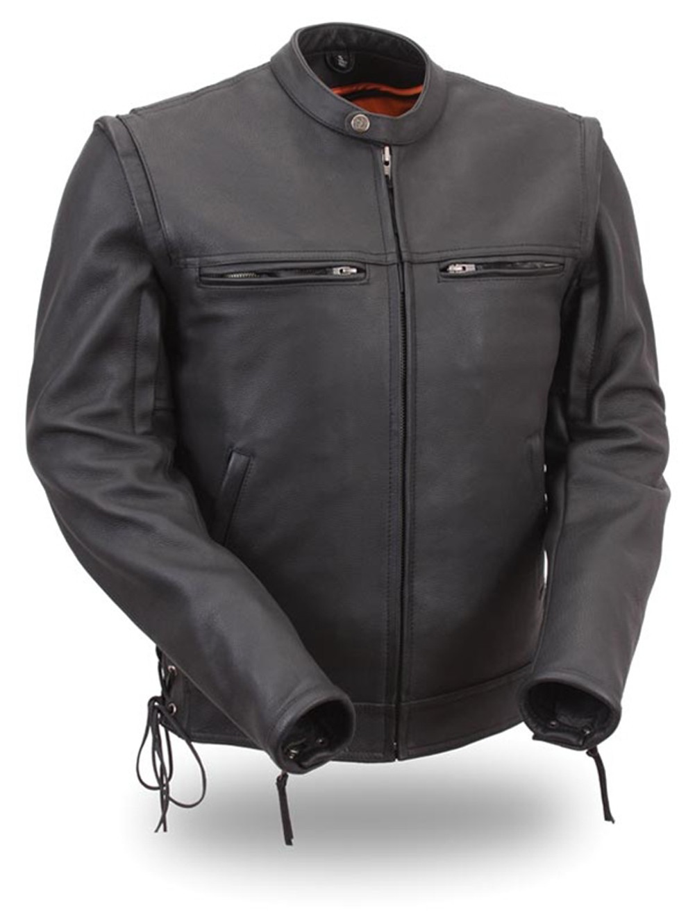 Men's Sleek Vented Scooter Zip Off Sleeve Jacket FIM225CSLZ