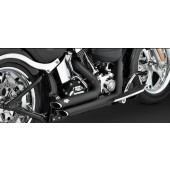 VANCE AND HINES SHORTSHOTS STAGGERED BLACK 1986-2011 SOFTAILS
