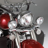 Contour Driving Light Kit on a Kawasaki VN900