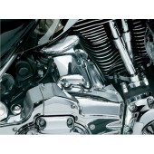 Fits: '07-'08 Electra Glides, Road Glides, Street Glides & Road Kings with Küryakyn Transmission Shroud (P/N's 7876 or 7877) Note: Requires Küryakyn Transmission Shroud for installation. If a '09-'13 Touring Model is equipped with aftermarket exhaust