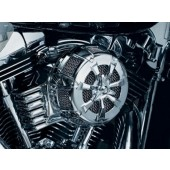 Chrome Alley Cat Air Cleaner (kit) Fits: '08-'13 Touring Models, Trikes, '11-'12 FLSTSE & '13 FXSBSE