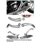 Pegasus Performance - Chrome Billet Floorboard Controls