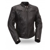 Women's Sleek Vented Scooter Jacket FIL157NOCZ