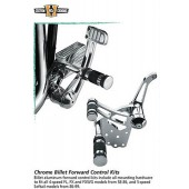 "Chrome Billet Forward Control Kit 5/8"" -bore master cyclinder"