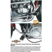 Custom Chrome - Chrome Forward Control Kit for Late Sportster Models 883
