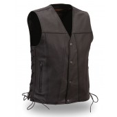 Soft Milled Cowhide Singe Panel Vest