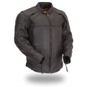 Men's Vented Scooter Jacket with Blacked Out Highly Reflective Piping FIM232CSLZ